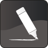 Editing copy and proof-reading icon mono